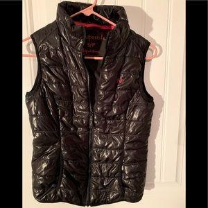Puff vest.  Black.  Aeropostale